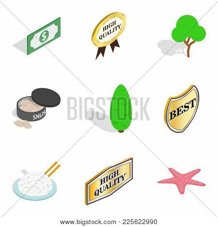 Buy Food Icons Set. Isometric Set Of 9 Buy Food Vector Icons For Web Isolated On White Background