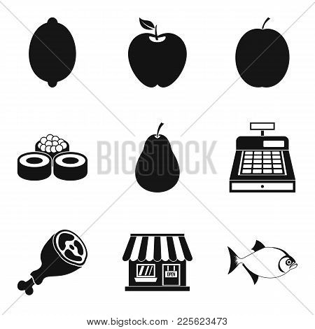 Food Supply Icons Set. Simple Set Of 9 Food Supply Vector Icons For Web Isolated On White Background