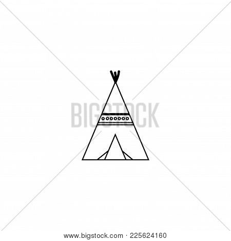 Vector Image Of An Indian Dwelling. Wigwam. Icon Jpg Eps