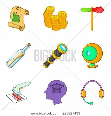 Situation Icons Set. Cartoon Set Of 9 Situation Vector Icons For Web Isolated On White Background