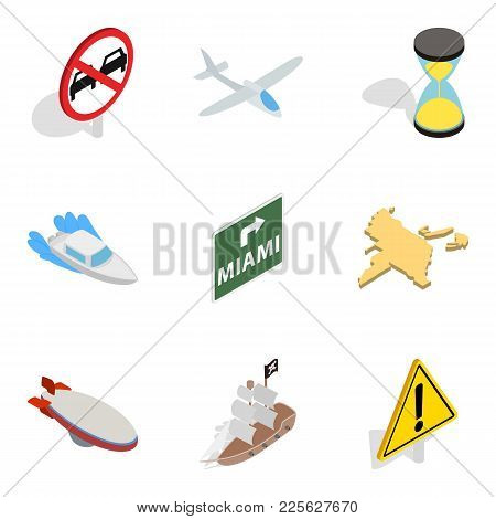 Search Location Icons Set. Isometric Set Of 9 Search Location Vector Icons For Web Isolated On White