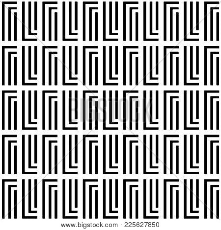 Vector Seamless Pattern. Modern Stylish Texture. Repeating Geometric Tiles With Rectangular Lines.