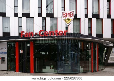 Stuttgart, Germany - February 03: The Showcase Of The Fan Center Of The Vfb Stuttgart At The Mercede