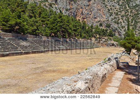 Ancient stadium at Delfi, Greece