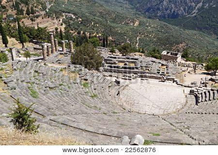 Temple of Apollo at Delfi, Greece