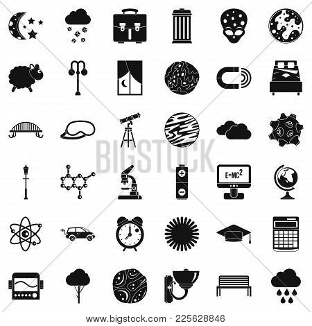 Open Space Icons Set. Simple Set Of 36 Open Space Vector Icons For Web Isolated On White Background