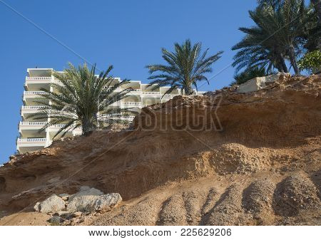 Coastal Erosion In Soft Limestone Rock In La Zenia, Orihuela, Costa Blanca, Spain