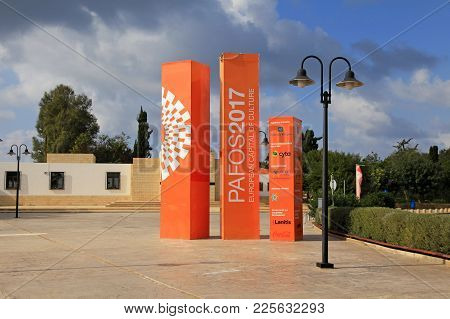 Paphos, Cyprus - January 12, 2018: Paphos - European Capital Of Culture In 2017,paphos, Cyprus. Paph