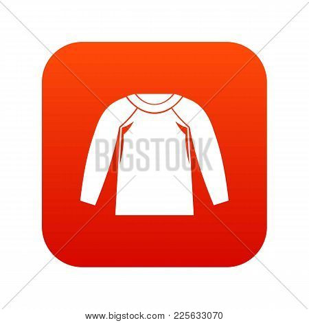 Sports Jacket, Icon Digital Red For Any Design Isolated On White Vector Illustration