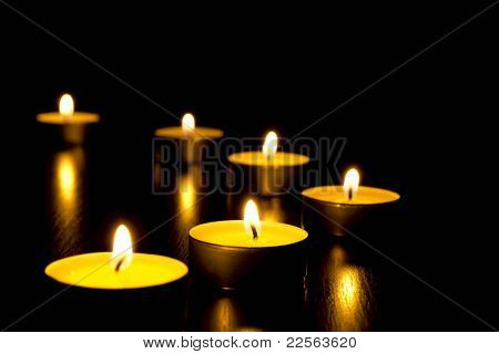 ground black candles