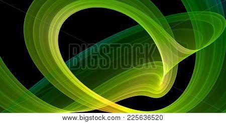 abstract colorful ribbon, vivid swirl, dynamic loop
