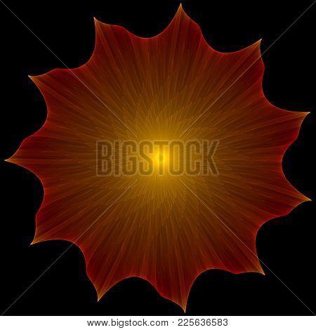 mandala type glowing symbol, intricate details