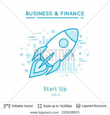 Simple Design For Business Financial Topic. Vector Template Easy To Edit.