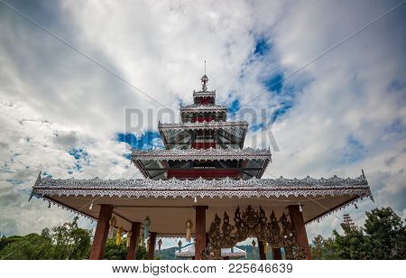 The Aluminum Top Roof Of Temple Decoration In Thailand, Buddhism Trust