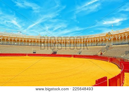 Indoor View Of Square Of Bulls Royal Maestranza Of Cavalry In Se