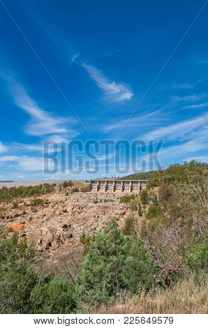 Countryside Landscape With Dam Wall In The Distance. Wyangala Dam, Australia