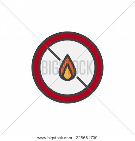 No Expose Flammable Liquids Filled Outline Icon, Line Vector Sign, Linear Colorful Pictogram Isolate