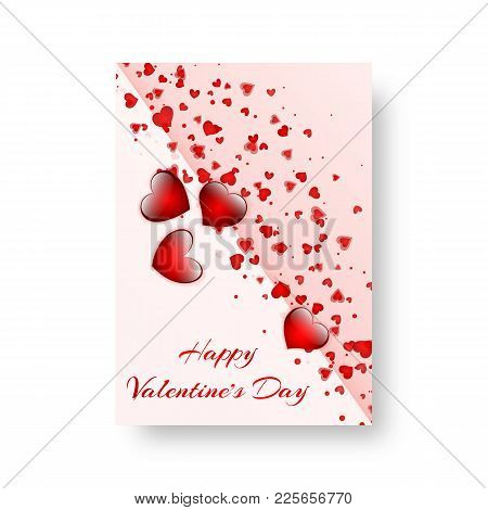 2847426 Rectangular Pamphlet With Scarlet Hearts
