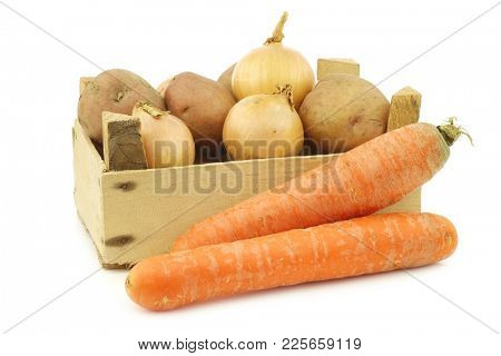 Mixed root vegetables for making
