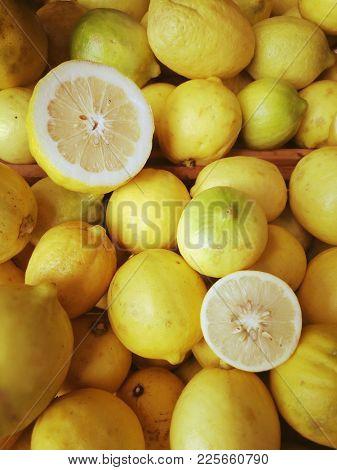 Fresh lemons background