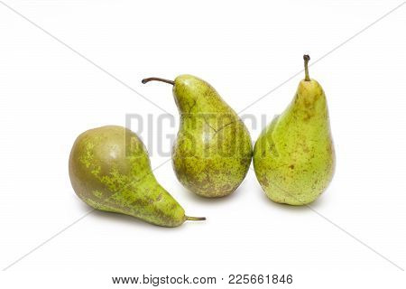 Pears On A White Background. Composition Of Pears On A White Background.