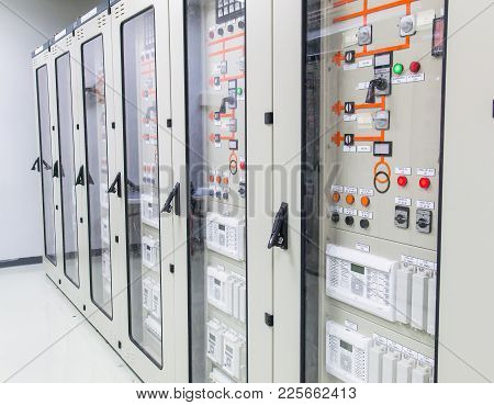 115kv Control And Protection Panel Of Switchgear Room At Power Plant