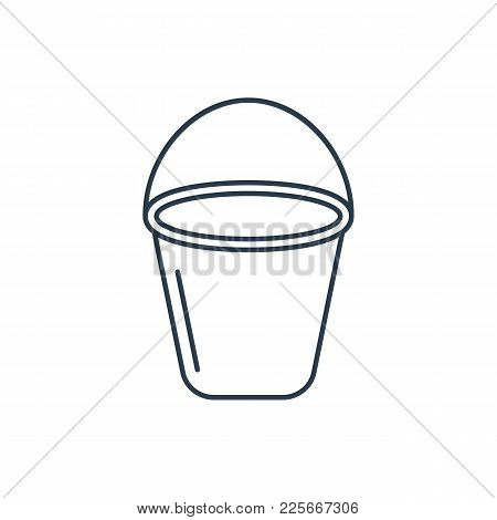 Linear Bucket Icon Isolated On White Background