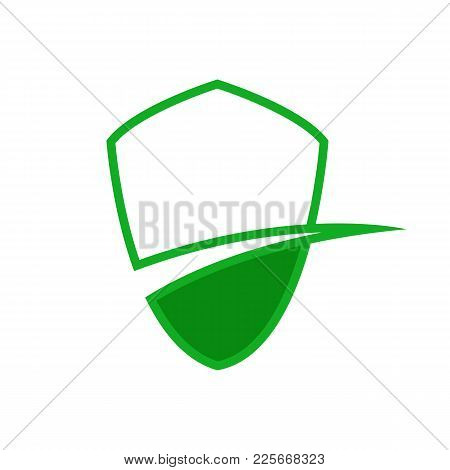 Green Protection Lane Abstract Corporate Symbol Vector Illustration Graphic Design