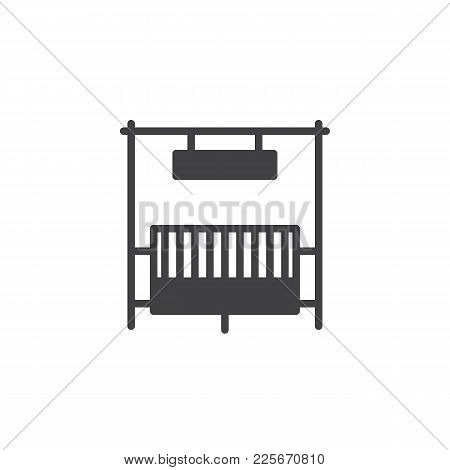Ranch Gate Icon Vector, Filled Flat Sign, Solid Pictogram Isolated On White. Symbol, Logo Illustrati