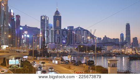 Causeway Bay, Hong Kong, 14 January 2018:- Hong Kong city