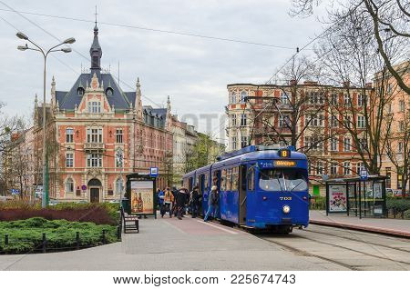 Poznan / Poland - 2016: Architecture, City Infrastructure And Public Transport In A Large Agglomerat