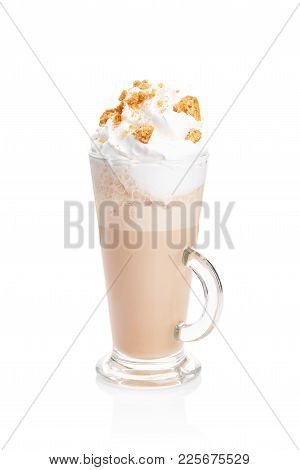 Coffe Latte Cup On The White Background