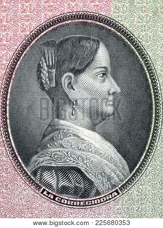 Josefa Ortiz De Domínguez Portrait From Old Mexican Money