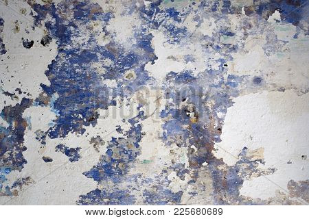 Old Abstract Grunge Decorative Navy Blue White Wall Background.