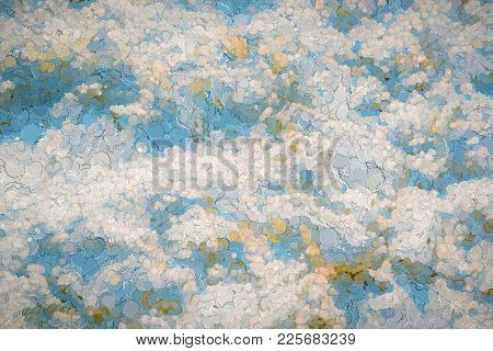 Illustration For A Background Or For Wallpaper Of The Abstract Textured Motley Spotty Pattern Or The