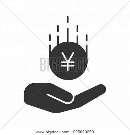 Open Hand Yen Coin Vector Photo Free Trial Bigstock