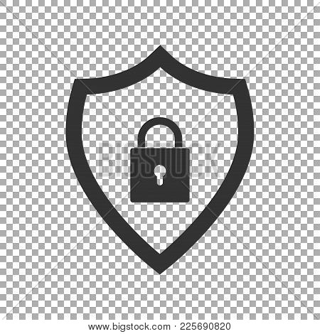 Shield Security Icon. Abstract Security Vector Icon