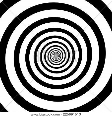 Psychedelic Spiral With Radial Rays. Hypnotic Spiral