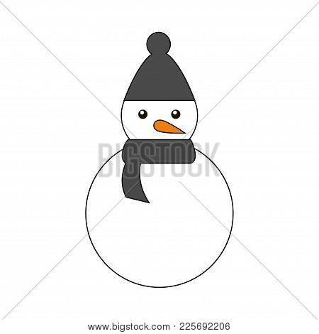 Snowman Icon Vector Illustration Isolated On White Background