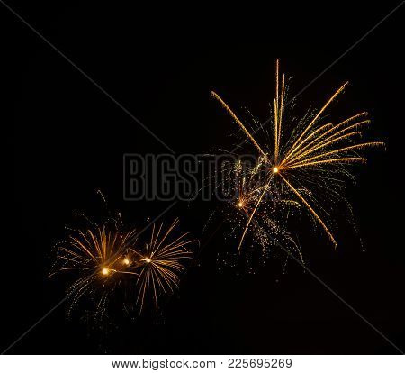 Fireworks In The Sky At The New Year