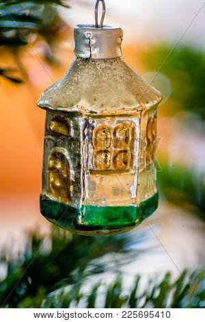Macro Shot Of A Vintage Christmas Ornament.