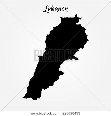 Map Of Lebanon. Vector Illustration. World Map