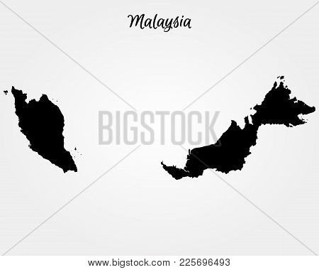 Map Of Malaysia. Vector Illustration. World Map