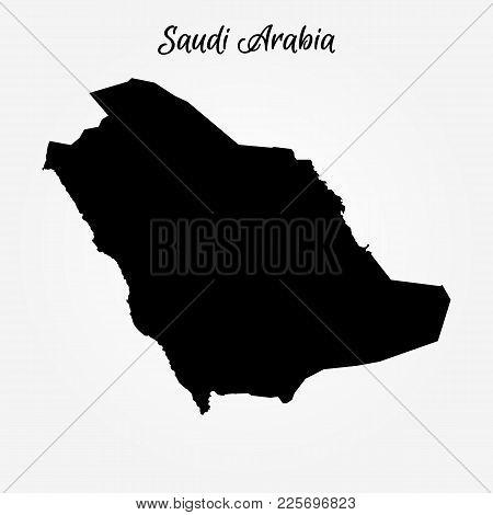 Map Of Saudi Arabia. Vector Illustration. World Map