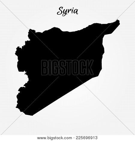Map Of Syria. Vector Illustration. World Map