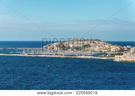 Marseille, France - December 4, 2016: View Of The Yacht Club And The Harbor Of The Frioul Islands Ne