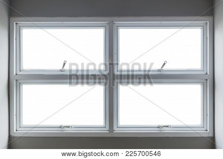 Aluminium Push Awning Windows Inside View With Clipping Glass