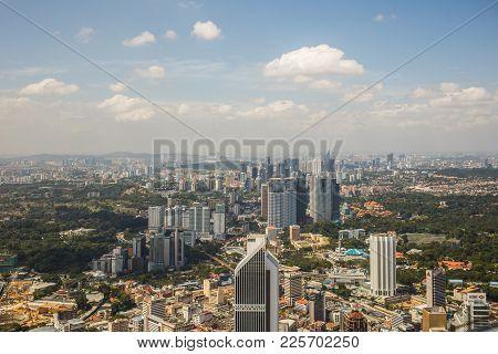 Kuala Lumpur, Malaysia : March, 2017 - Urban Views Of Kuala Lumpur With Tall Skyscrapers, Drowning I