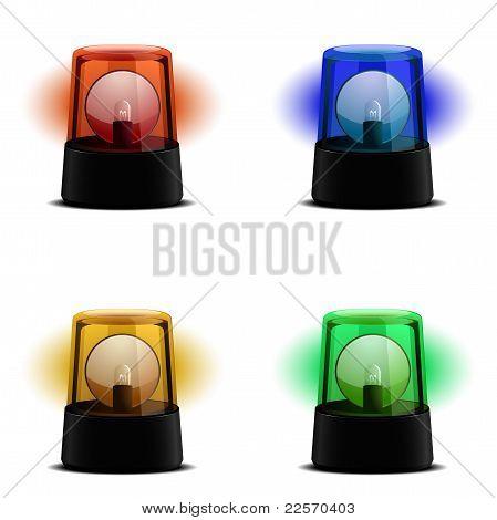 Various Flashing Lights