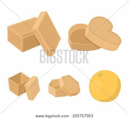 Box, Container, Package, And Other  Icon In Cartoon Style.case, Shell, Framework, Icons In Set Colle